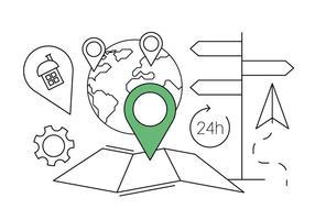 Icônes de navigation gratuites vecteur