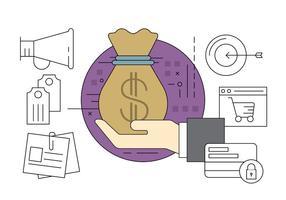Icônes commerciales et financières gratuites vecteur
