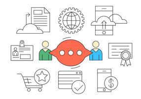 Icônes de vecteur d'entreprise