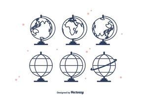 Icônes vectorielles Globus vecteur