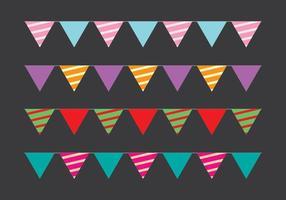 Cute party flag vectors