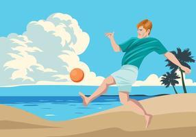 Sport de football de plage vecteur