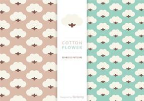 Motifs de fleurs libres de coton vecteur
