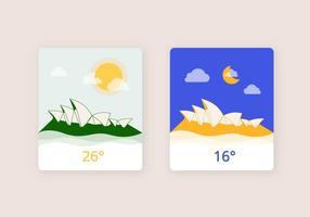 Illustration météorologique du jour et de la nuit vecteur