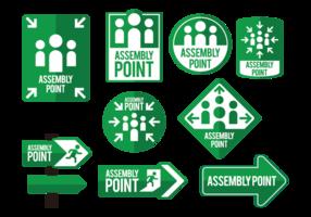 Vecteur d'icônes de points de réunion