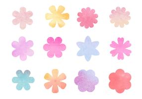Vecteur de fleurs d'aquarelle gratuit