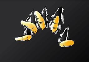 Vecteur libre de doigts déchirants
