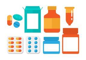 Vecteur de boîte à pilules gratuit