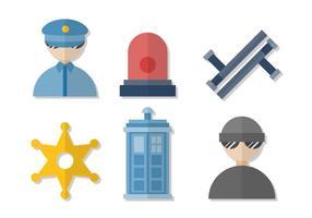 Vecteurs de police gratuits vecteur