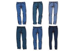 Vecteur de jean bleu