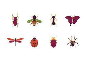 Icône des insectes gratuits vecteur