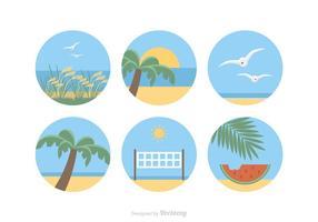 Icônes gratuites de vecteur de paysage de mer