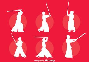 Vecteur silhouette kendo