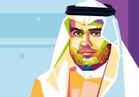 Prince - Style arabe - WPAP vecteur