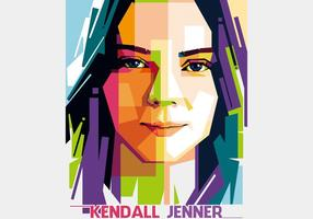 Kendall jenner - style hollywoodien - wpap vecteur