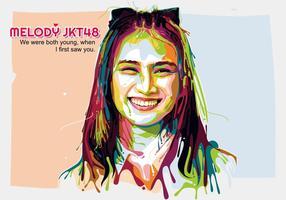 Melody jkt 48 - popart portrait vecteur