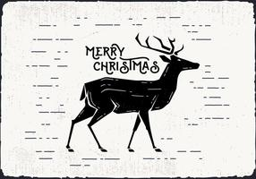 Vecteur de cerf Noël gratuit