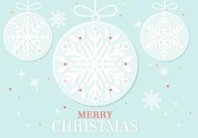 Ornement de Noël Vector Gratuit