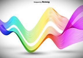 Lignes ondulées colorées abstraites vecteur