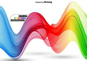 Spectre ondulé coloré abstraite - modèle vectoriel