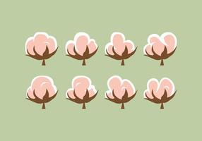Pack gratuit de vecteur fleur de coton