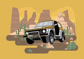 Vecteur illustration jeep