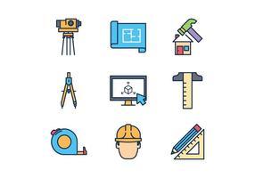 Icônes d'architecte gratuites vecteur