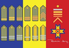 Rang de l'armée roumaine vecteur