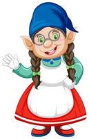personnage de dame gnome agitant