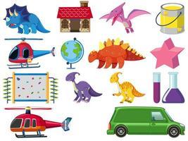 ensemble de jouets pour enfants de dessin animé vecteur