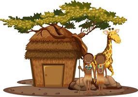 conception de tribu indigène africaine vecteur
