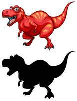 jeu de caractères de dessin animé de dinosaure