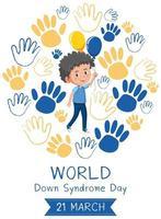 bannière de sensibilisation au syndrome de Down dans le monde