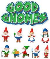 jeu de caractères gnome vecteur