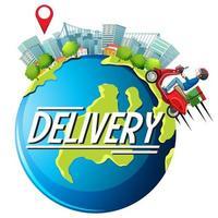 conception de livraison gratuite avec messager