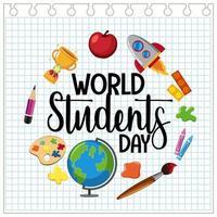 bannière de la journée mondiale des étudiants