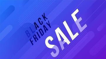 conception de bannière de vente de formes bleu vendredi noir