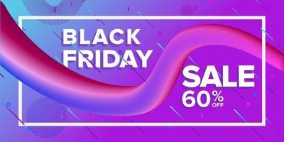 conception de bannière de vente de ruban rose violet vendredi noir