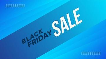 conception de bannière diagonale bleue vente vendredi noir