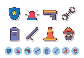 Ensemble d'icônes de police gratuit vecteur