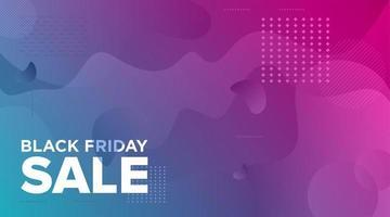 conception de bannière de vente noir vendredi violet vert