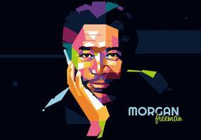 Morgan freeman - style hollywoodien - wpap vecteur