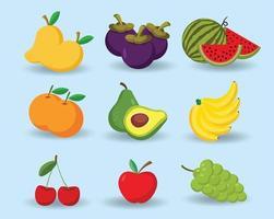 conception de vecteur de fruits de dessin animé