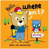 ours en randonnée dans les bois