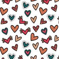 motif de fond sans couture coeur coloré