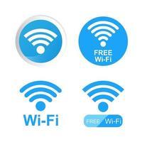 symbole wifi sur fond
