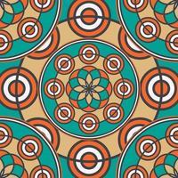motif de mandala sans soudure coloré linéaire