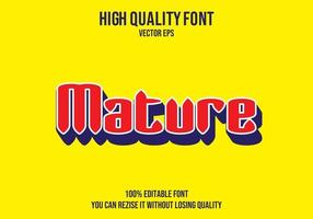 effet de texte mature