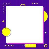 modèle de style memphis dynamique coloré en taille carrée
