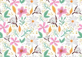 Vecteurs de motifs floraux gratuits vecteur